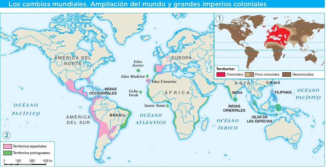 Resultado de imagen de Mapa de las a tierras conocidas antes del descubrimiento de América