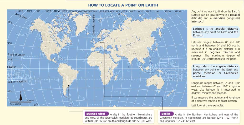Geographic Coordinates Geography ESO DIGITAL Physical Geography - Latitude map world