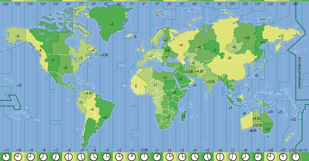 Time Zones Geography 1 Eso Digital Physical Geography