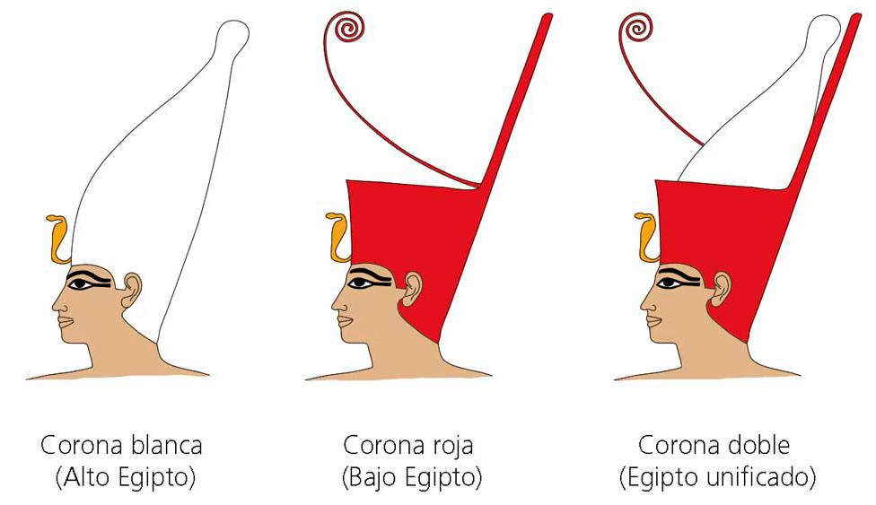 Las coronas egipcias