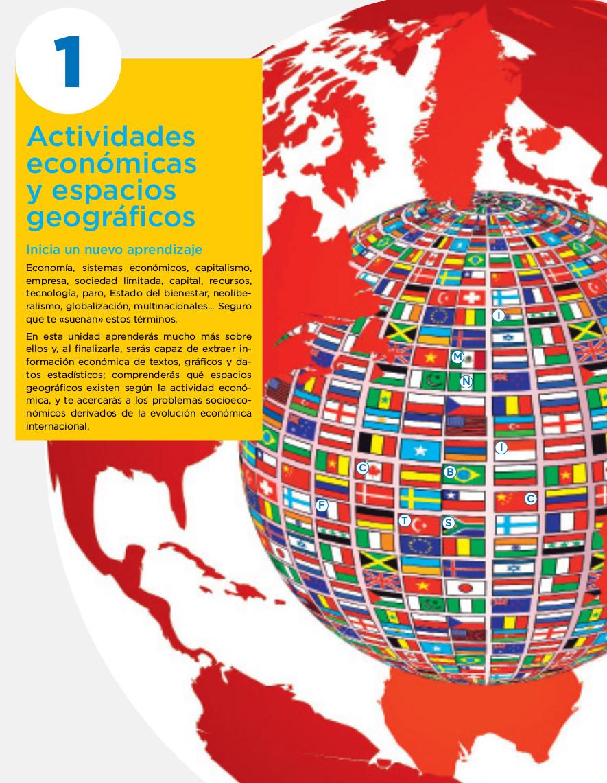 1. Actividades económicas y espacios geográficos - Geografía e ...