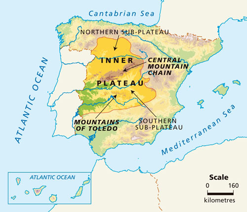 Map Of Spain Mountains.Blink Activity Blinklearning