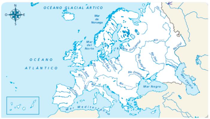 Rios De Europa Mapa Con Nombres.Blink Activity Blinklearning