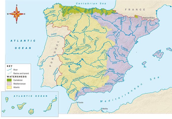 Map Of Spain Rivers.Blink Activity Blinklearning