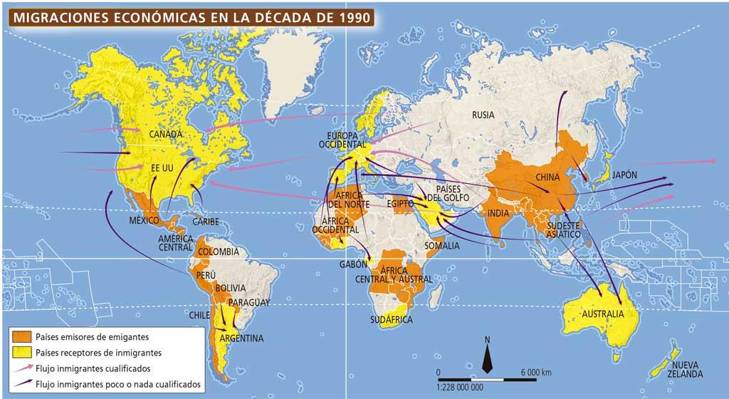 Las migraciones geograf a e historia 3 eso digital for Ministerio del interior ubicacion mapa