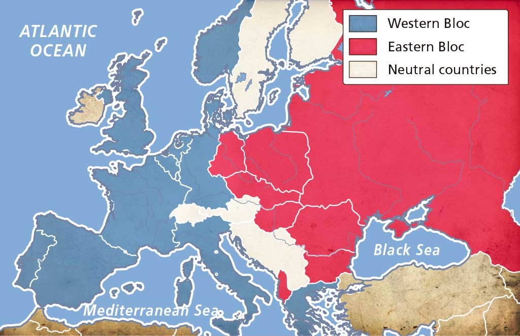 Look At The Map Of Eu Make A List Of The Countries That Were Members Of The Western Bloc And A List Of The Countries That Were Members Of The Eastern